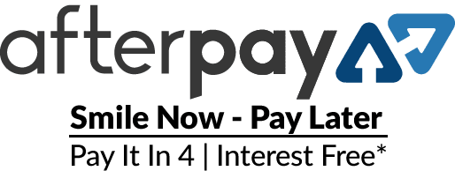 Afterpay logo | Smile now, pay later | Interest free
